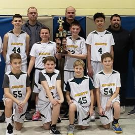 Saint Columba School CYO Boys Basketball Champions