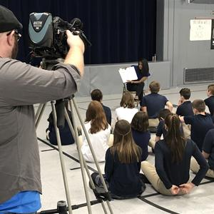 WBRE News Reporter Visits SCS for Read Across America