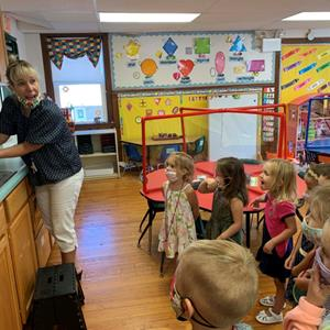 SCS Preschoolers Get Their First Lesson