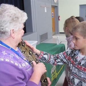 Clyde Peeling's Reptiles Come to Visit SCS