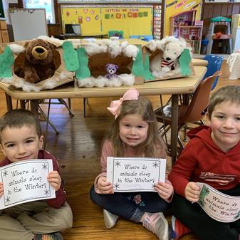 SCS Preschool and Their Bears