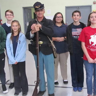 Veterans Day Observed with Civil War Reenactor